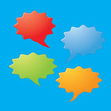 Colorful dialog speech bubbles Stock Image