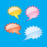 Colorful dialog speech bubbles. Icons Royalty Free Stock Photo