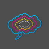 Colorful dialog speech clouds Royalty Free Stock Image