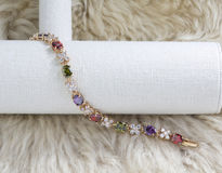 Colorful diamond bracelet Royalty Free Stock Images