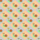 Colorful diamond children pattern with funny carto Stock Photos