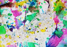 Pastel colorful paint spots, abstract paint background Royalty Free Stock Image