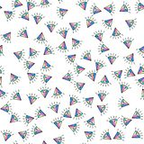 Colorful diamond seamless pattern on white background. Paper print design. Abstract retro vector illustration. Trendy textile, stock photo