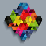 Colorful diamond with triangle texture Royalty Free Stock Image