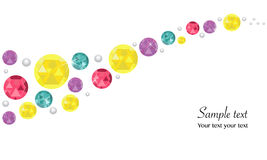 Colorful diamonds abstract background Stock Photography