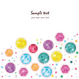 Colorful diamonds greeting card vector background Stock Photography