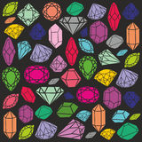 Colorful diamonds, jewel vector background. Vector colorful diamonds, jewel background Royalty Free Stock Image