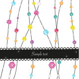 Colorful diamonds vector abstract background Royalty Free Stock Photos