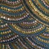 Colorful diamonte diamond beaded pattern close up Stock Photo