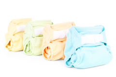 Colorful diapers Stock Photos