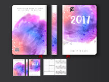Colorful Diary Cover design for 2017. Creative colorful Diary Cover, Personal Organizer or Notebook design for the year 2017 Royalty Free Stock Images