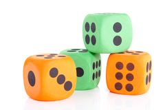 Colorful dice Stock Image