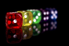 Colorful dice royalty free stock photography