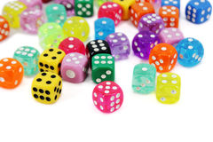 Colorful Dice Set Stock Photos