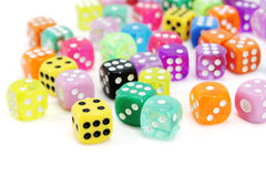Colorful Dice Set Stock Image