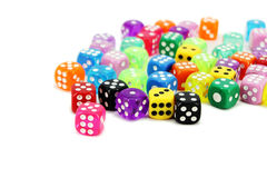 Colorful Dice Set Stock Photo