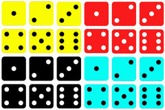 Colorful Dice Sets Royalty Free Stock Images