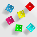 Colorful dice Stock Images