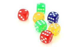 Colorful dies Royalty Free Stock Photos