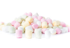 Colorful different  Fluffy Round Marshmallow isolated on white b Stock Image