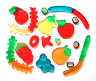 Colorful different Jelly Candy Stock Photography