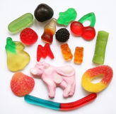 Colorful different Jelly Candy Royalty Free Stock Photos