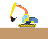 Colorful digger picture Stock Image