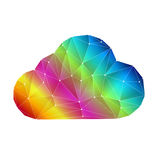 Colorful digital clouding. Colorful digital cloud with line connection Stock Photography