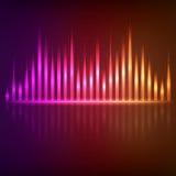 Colorful digital shining equalizer Stock Image