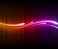 Colorful digital shining equalizer with waves Royalty Free Stock Images