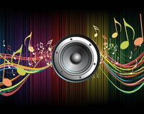 Colorful digital sound wave Royalty Free Stock Photo