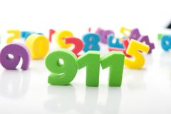 Colorful digits Stock Image
