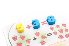 Colorful digits Stock Photography