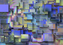 Colorful Dimensional Abstract Stock Image