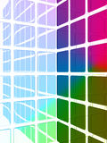 Colorful dimensional forms Royalty Free Stock Photos