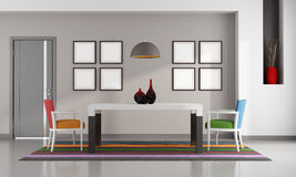 Colorful dining room Stock Photos