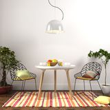 Colorful dining room interior Royalty Free Stock Images