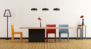 Colorful dining room Royalty Free Stock Photo