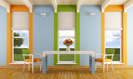 Colorful dining room royalty free illustration