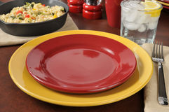 Colorful dinner setting Stock Photography