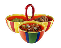 Colorful dip serving dish with dips Royalty Free Stock Photography