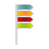 colorful directional metallic plaque road sign Stock Image
