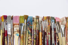 Colorful Dirty Brushes Royalty Free Stock Photography