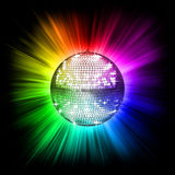 Colorful disco ball. 3d illustration Stock Photos