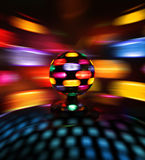 Colorful disco ball reflections Stock Photography