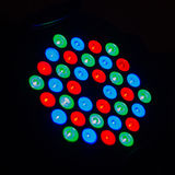 Colorful disco light on black background Royalty Free Stock Photography