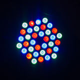 Colorful disco light on black background Stock Photography