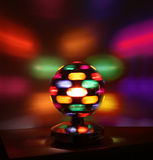 Colorful disco lights ball Stock Photo