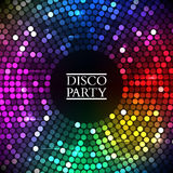 Colorful disco lights. Vector Stock Images