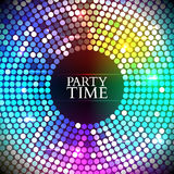 Colorful disco lights. Vector Stock Image